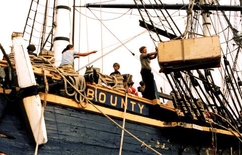 hauling aboard the Bounty